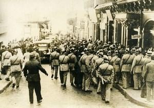Algeria Algiers Evacuation of Mogador street Workers Strikers Old Photo 1937