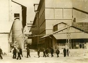 France Lyon Strike at Usines Lafarge Lime Kiln Cement Old Photo 1938