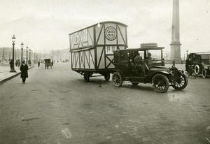 France Paris Maison Liberee Trailer House Caravane Automobile Trampus Photo 1922