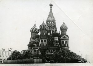 Russia Moscow Saint Basil's Cathedral Red Square old Photo 1930