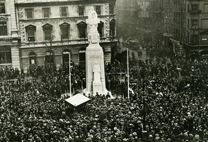 London St. Martin's Place Nurse Edith Cavell Memorial Opening Trampus Photo 1920