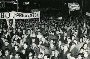 Uruguay Montevideo Pro Cuban Cuba Demonstrations Old Photo 1964