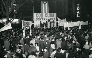 Uruguay Montevideo Pro Cuban Cuba Demonstrations Old Photo 1964
