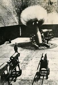 USA Snapshot of Cannon Firing Mortar Old Photo 1939