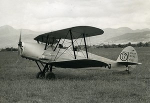 France Aviation Stampe SV-4C 437 SNCAN F-BCVQ Training Aircraft Old Photo 1950's