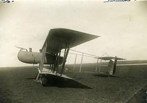 France WWI Farman F40 Pusher Biplane Reconnaissance Aircraft Aviation Photo 1915