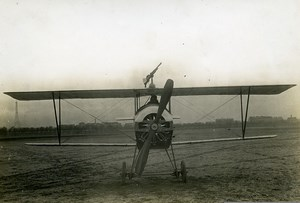 France WWI Nieuport 10 Fighter Aircraft Machine Gun Military Aviation Photo 1914