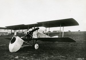 France WWI SPAD S-A1 Military Aviation Reconnaissance Aircraft Old Photo 1915