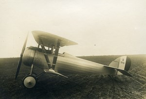 France WWI Nieuport 24 N3760 Military Aviation Fighter Aircraft Old Photo 1917