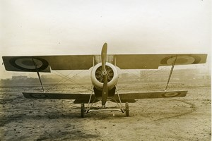 France WWI Nieuport 12 Military Aviation Reconnaissance Aircraft Old Photo 1915
