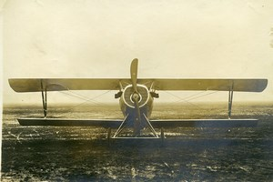 France WWI Nieuport Prototype ? Military Reconnaissance Aircraft Old Photo 1917