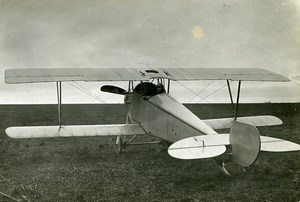 France WWI Nieuport 10 Military Aviation Reconnaissance Aircraft Old Photo 1915