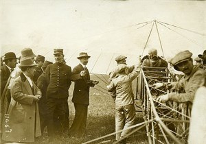 France Buc Aviation Bleriot with Pegoud before Inverted Flight Old Photo 1913