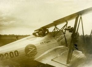 France Aviation Meeting Detroyat on Fieseler F2 Tiger Old Photo 1933