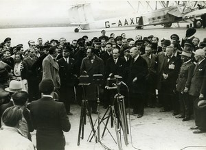 France Le Bourget Aviation Pierre Cot Handley Page HP42 Politics Old Photo 1933