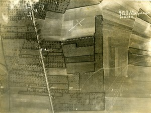 France WWI Aisne Front British Royal Engineers Aerial View Photo October 1918
