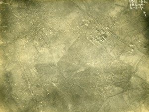 France WWI Aisne Front British Royal Engineers Aerial View Old Photo 1917