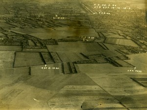 France WWI Aisne Front British Royal Engineers Aerial View Old Photo 1918