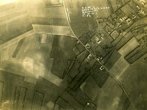 France WWI Aisne Front Ribeauville British Royal Engineers Aerial Photo 1918