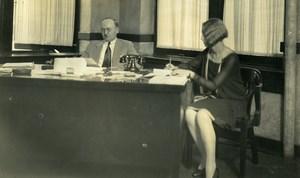 USA Chicago Aviation Service & Transport Office President Old Photo 1925
