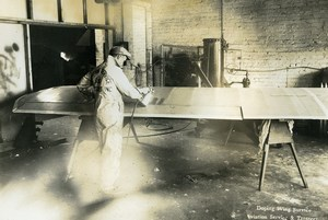 USA Chicago Aviation Service & Transport Doping Wings Worker Photo 1925