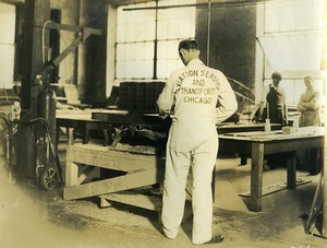 USA Chicago Aviation Service & Transport Worker Old Photo 1925