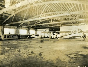 USA Chicago Aviation Service & Transport Airport Hangar Old Photo 1925