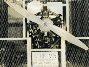 USA Chicago Velie M5 Engine Aviation Service & Transport Old Photo 1925