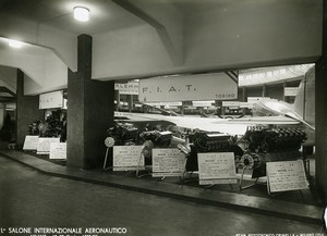 Italy Milano Salone Internazionale Aeronautico Fiat Booth Airshow Old Photo 1935