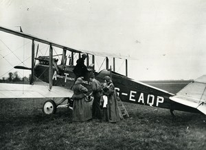Air Transport and Travel De Havilland DH9b G-EAQP KLM Aviation Old Photo 1920