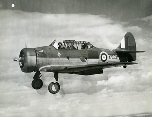 Aviation RAF North American Harvard MK 1 N7033 Aircraft Old Photo 1941