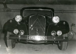 France Automobile Car Citroen Traction Old Photo 1953
