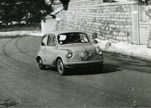 Italy Sestriere Automobile Rally Fiat 600 Capelli & Gerli Racing Old Photo 1956
