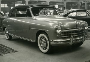 Switzerland Geneva International Automobile Show Car Fiat 1400 Old Photo 1950