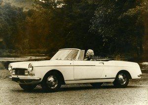 France Automobile Car Super Deluxe Convertible 404 Peugeot Old Photo 1966
