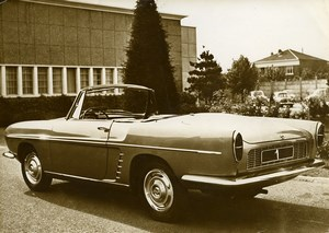 France Automobile Car Renault Dauphine Floride Convertible Old Photo 1959
