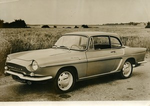France Automobile Car Convertible Coupe Renault Caravelle Old Photo 1963