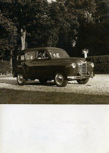 France Automobile Renault Colorale Prairie Country Estate Old Photo 1951