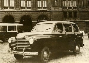 France Automobile Car New Cab Taxi Renault Type 85 Old Photo 1950