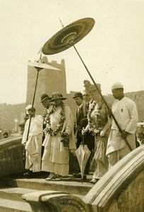 Wembley Exhibition Belgium Romania Queens Burmese Section Old Photo 1925