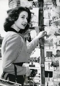 France Paris Monique Baud Miss France of America Fashion Old Photo 1957