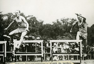 USA Michigan Detroit Morgan Taylor World record of 400m Hurdles Old Photo 1920's