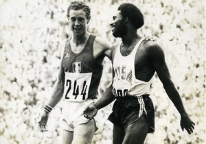 Germany Munich Olympic Games Rodney Milburn & Guy Drut Athletics Old Photo 1972