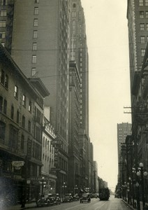 USA New York Street Scene Bowles Lunch Old Houston Rogers Photo 1930's