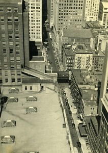 USA New York Building Roof tops Old Houston Rogers Photo 1930's