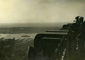 USA New York Art Deco Building Panorama Old Houston Rogers Photo 1930's