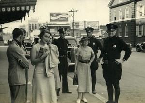 USA Washington DC Street Scene Policemen Old Houston Rogers Photo 1930's