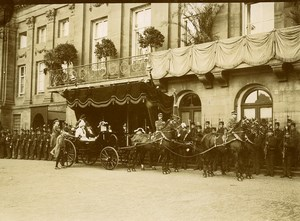 Spain Madrid President Fallieres ariving at the Palace Old Photo 1910