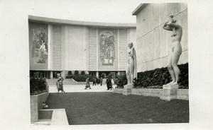 Belgium Brussels World Fair Statues Pavilion Old Photo RPPC 1935