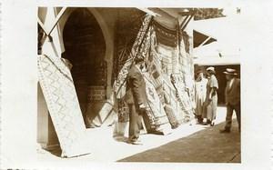 Belgium Brussels World Fair Arab Market Souk Rugs Old Photo RPPC 1935